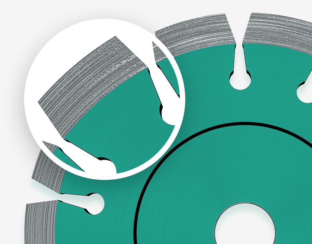 Verschillende vormen diamantschijf segmenten