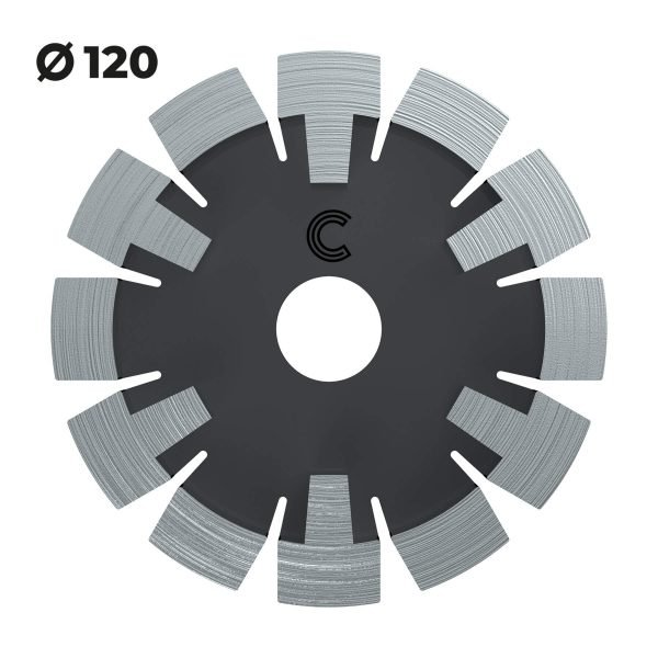 vloerverwarmingsfrees cementdekvloeren 120mm