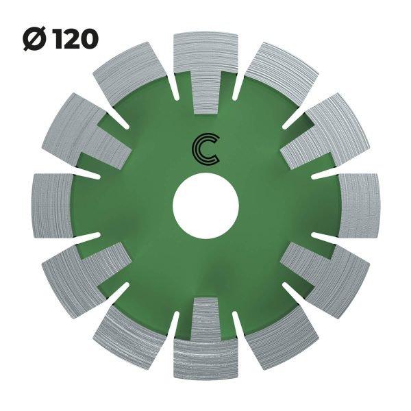 vloerverwarmingsfrees zachte vloeren 120mm
