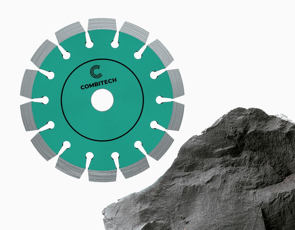 Diamantzaag voor het zagen van diverse steensoorten